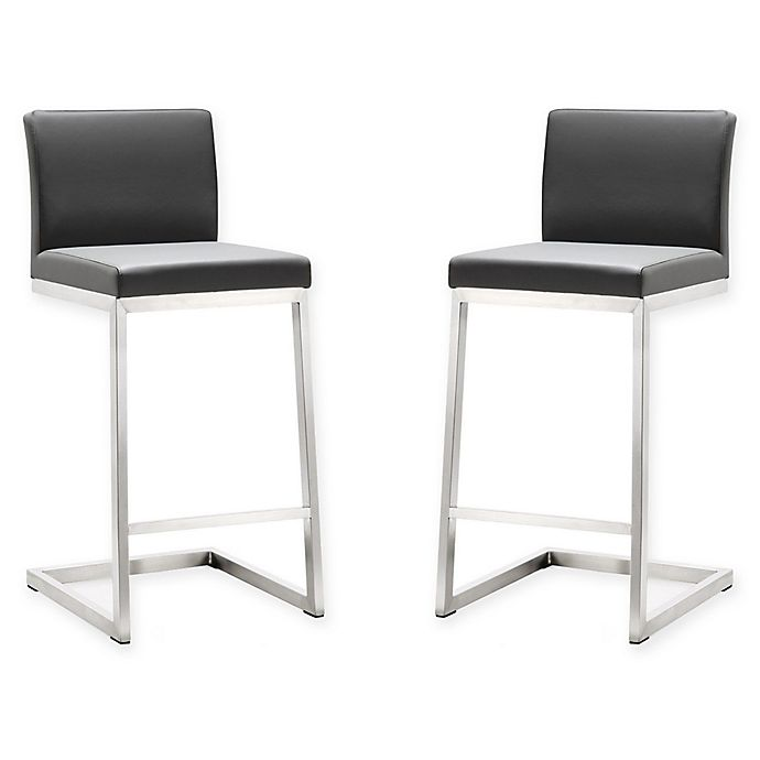 Tov Furniture Parma Steel Counter Stools Set Of 2 Bed Bath Beyond