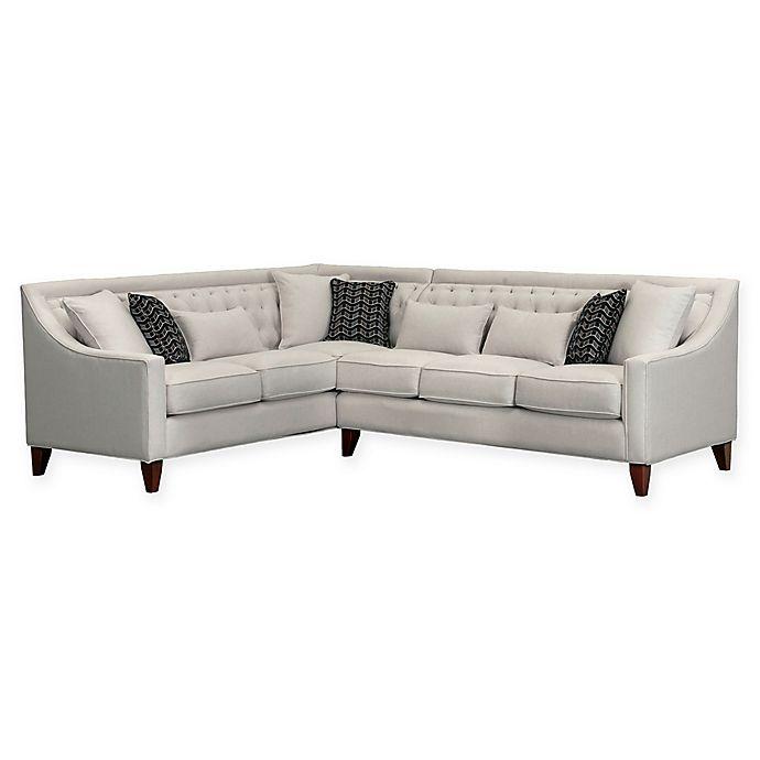Chic Home Vesta Left-Facing Linen Sectional Sofa | Bed Bath ...