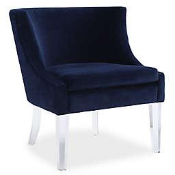 TOV Furniture Myra Velvet Chair in Blue