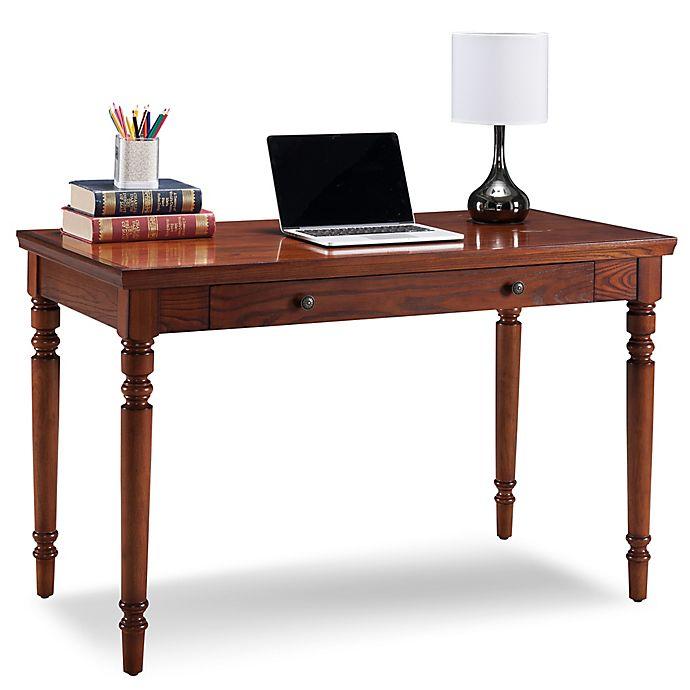 Alternate image 1 for Leick Home Farmhouse Laptop Desk in Oak