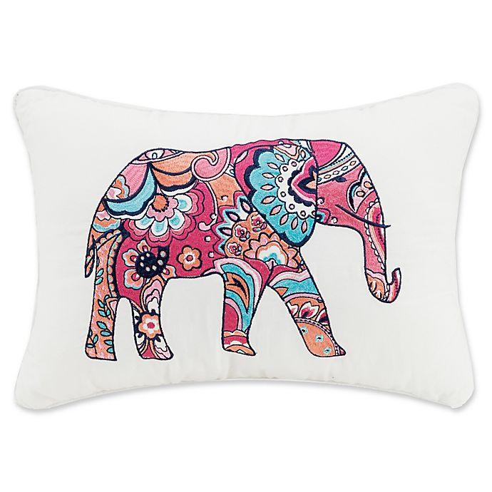Alternate image 1 for Vera Bradley® Elephant Oblong Throw Pillow