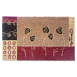 Nature by Geo Stenciled Floral Art 18-Inch x 30-Inch Multicolor Door Mat