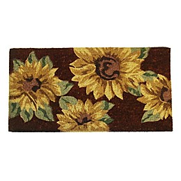 Nature by Geo Crafts Sunflower 18-Inch x 30-Inch Multicolor Door Mat