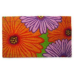 Nature by Geo Crafts Zinnia 18-Inch x 30-Inch Multicolor Door Mat