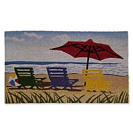 Nature by Geo Crafts Beach Chairs 18-Inch x 30-Inch Multicolor Door Mat
