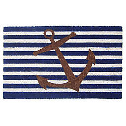 Nature by Geo Crafts Nautical Anchor 18-Inch x 30-Inch Multicolor Door Mat