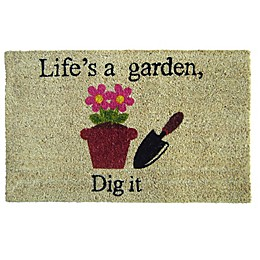 Nature by Geo Crafts Dig It 18-Inch x 30-Inch Multicolor Door Mat