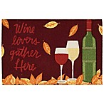 Nourison Wine Lovers 1-Foot 8-Inch x 2-Foot 6-Inch Multicolor Accent Rug