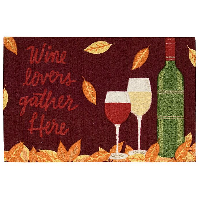 Alternate image 1 for Nourison Wine Lovers 1-Foot 8-Inch x 2-Foot 6-Inch Multicolor Accent Rug