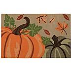 Nourison Pumpkins 1-Foot 8-Inch x 2-Foot 6-Inch Multicolor Accent Rug