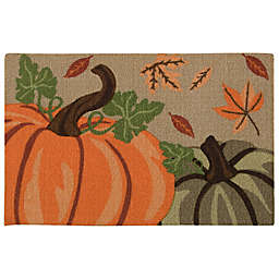Nourison Pumpkins 1-Foot 8-Inch x 2-Foot 6-Inch Multicolor Accent Rug
