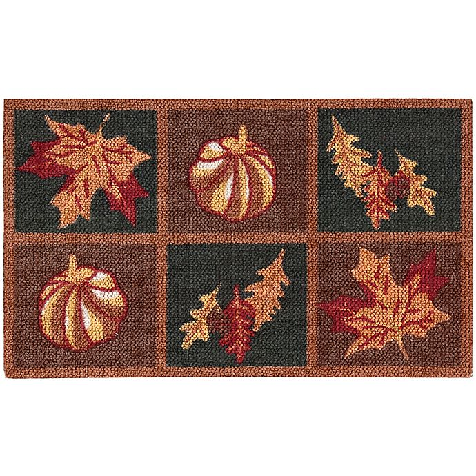 Alternate image 1 for Nourison Harvest Grid 1-Foot 8-Inch x 2-Foot 6-Inch Accent Rug in Orange