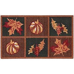 Nourison Harvest Grid 1-Foot 8-Inch x 2-Foot 6-Inch Accent Rug in Orange