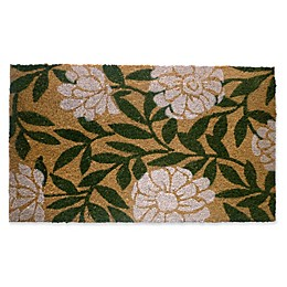 Nature by Geo Crafts Geranium 18-Inch x 30-Inch Multicolor Door Mat