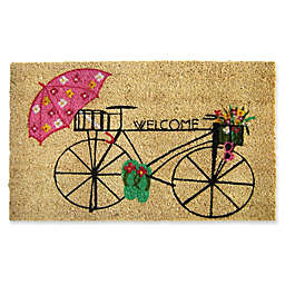 Nature by Geo Crafts Bicycle Welcome 18-Inch x 30-Inch Multicolor Door Mat