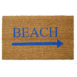 Nature by Geo Crafts Beach Arrow 18-Inch x 30-Inch Multicolor Door Mat