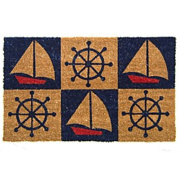 Nature by Geo Crafts Boats & Wheels 18-Inch x 30-Inch Multicolor Door Mat