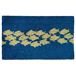 Nature by Geo Crafts Pool of Fish 18-Inch x 30-Inch Multicolor Door Mat