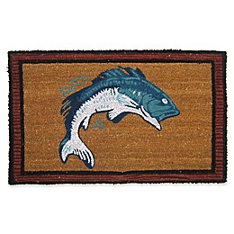 Nature by Geo Crafts Bass Fish 18-Inch x 30-Inch Multicolor Door Mat