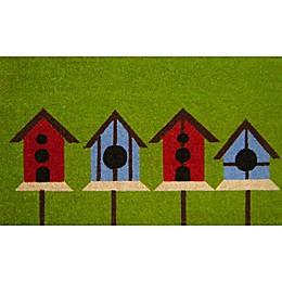 Nature by Geo Crafts Birdhouses 18-Inch x 30-Inch Multicolor Door Mat
