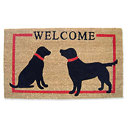 Nature by Geo Crafts Two Dog Welcome 18-Inch x 30-Inch Multicolor Door Mat