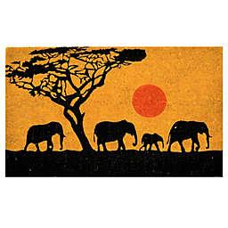 Nature by Geo Crafts Elephants 18-Inch x 30-Inch Multicolor Door Mat