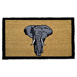 Geo Crafts by Nature Single Elephant 18-Inch x 30-Inch Multicolor Door Mat