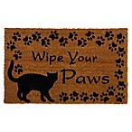 Geo Crafts by Nature Cat Wipe Your Paws 18-Inch x 30-Inch Multicolor Door Mat
