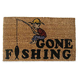 Nature by Geo Crafts Gone Fishing 18-Inch x 30-Inch Multicolor Door Mat