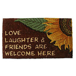 Nature by Geo Crafts Love Laughter & Friends 18-Inch x 30-Inch Multicolor Door Mat