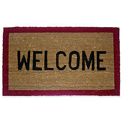Geo Crafts by Nature Red Border Welcome 18-Inch x 30-Inch Multicolor Door Mat