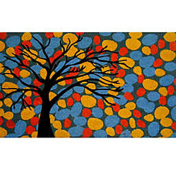 Nature by Geo Crafts Colorful Tree 18-Inch x 30-Inch Multicolor Door Mat