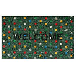 Home & More Polka Dot Welcome 17-Inch x 29-Inch Multicolor Door Mat