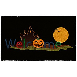 Home & More Halloween Welcome 17-Inch x 29-Inch Multicolor Door Mat