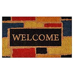 Nature by Geo Crafts Monty Welcome 29-Inch x 17-Inch Multicolor Door Mat