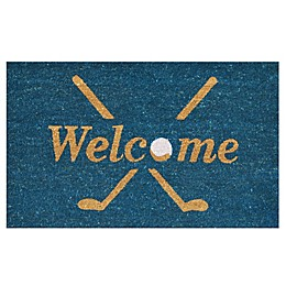 Home & More Golf Welcome 24-Inch x 36-Inch Multicolor Door Mat