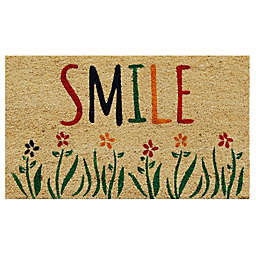 Home & More Smile 17-Inch x 29-Inch Multicolor Door Mat