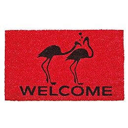 Home & More Flamingo Welcome 17-Inch x 29-Inch Multicolor Door Mat
