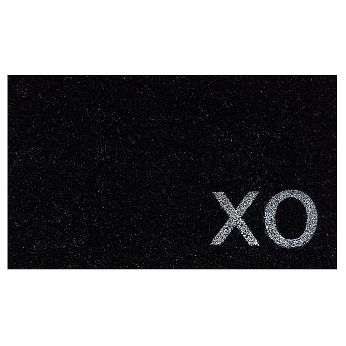 Alternate image 1 for Home & More Natural XO 17-Inch x 29-Inch Door Mat in Black