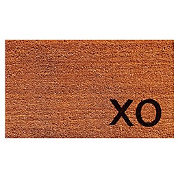 Home & More Black XO 17-Inch x 29-Inch Door Mat in Natural