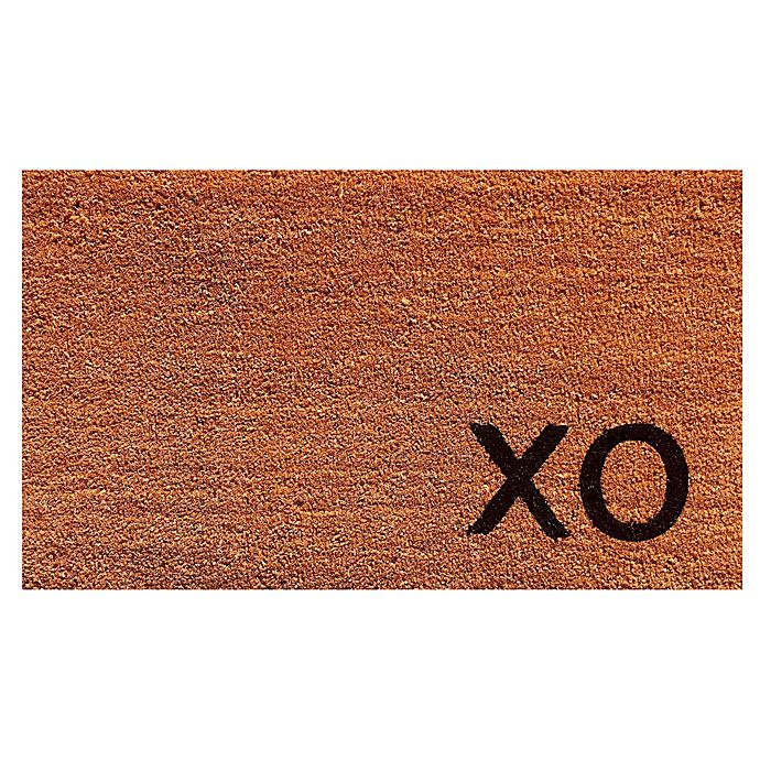 Alternate image 1 for Home & More Black XO 17-Inch x 29-Inch Door Mat in Natural