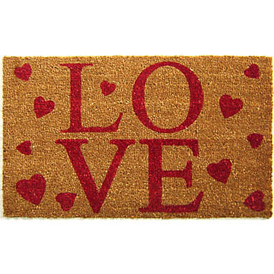 Nature by Geo Crafts LOVE 18-Inch x 30-Inch Multicolor Door Mat