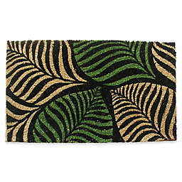 Nature by Geo Crafts Palm Leaves 18-Inch x 30-Inch Multicolor Door Mat