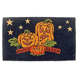 Geo Crafts by Nature Pumpkins Happy Halloween 18-Inch x 30-Inch Multicolor Door Mat