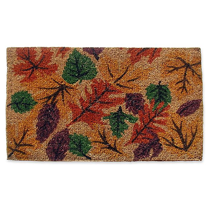Alternate image 1 for Nature by Geo Crafts Fall Foliage 18-Inch x 30-Inch Multicolor Door Mat