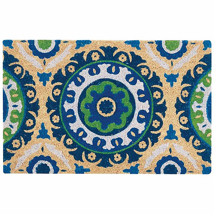 Alternate image 1 for Nourison Waverly Greetings 2' x 3' Door Mat in Navy