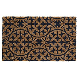Fab Habitat Extra Thick Blue Tile 18-Inch x 30-Inch Door Mat