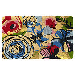 Fab Habitat Extra Thick Watercolor Floral 18-Inch x 30-Inch Door Mat