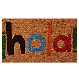 Home & More Hola 17-Inch x 29-Inch Multicolor Door Mat