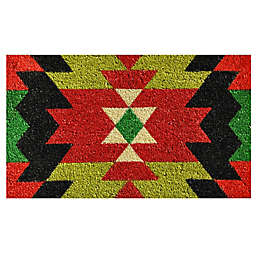 Home & More Aztec Graphic 17-Inch x 29-Inch Multicolor Door Mat